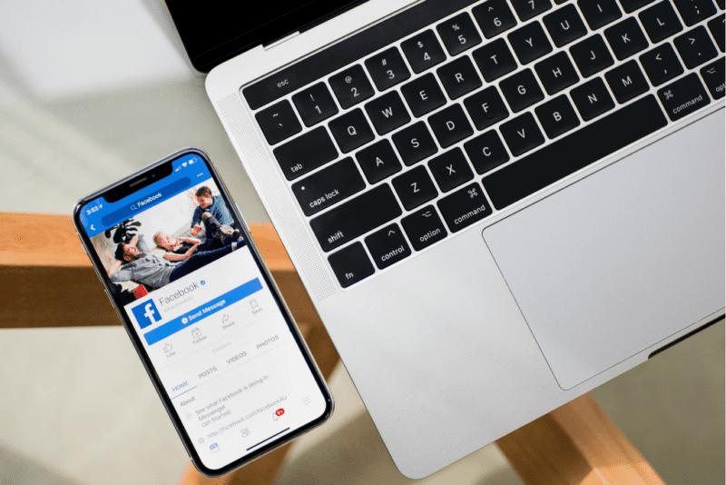 Facebook App & Laptop