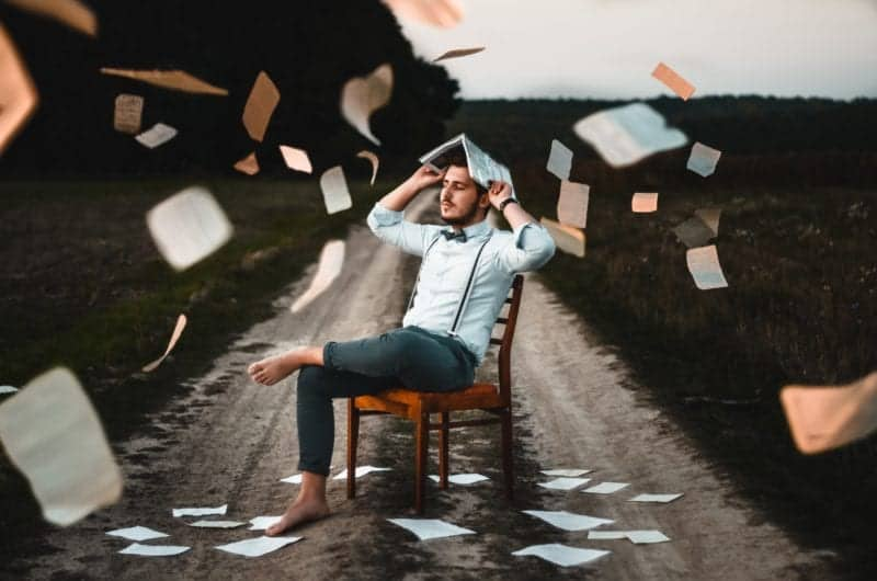 Going paperless - Papers falling