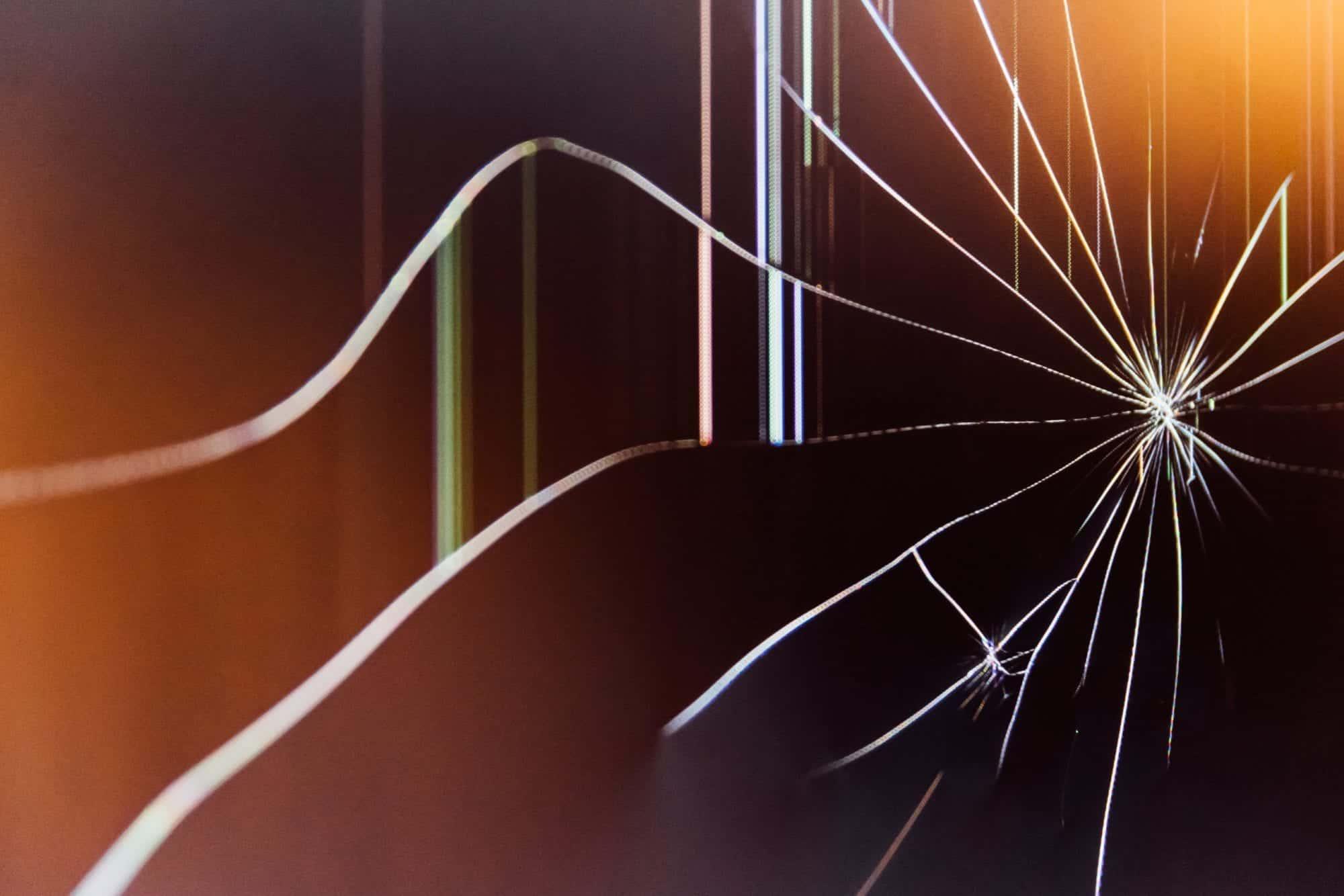 Broken glass screen